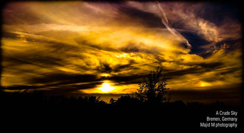 sunset sky night germany colorful vivid bremen crude