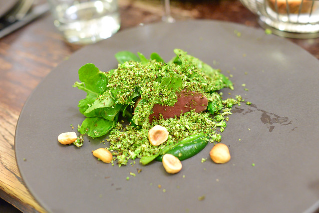 venison with broccoli and hazelnuts