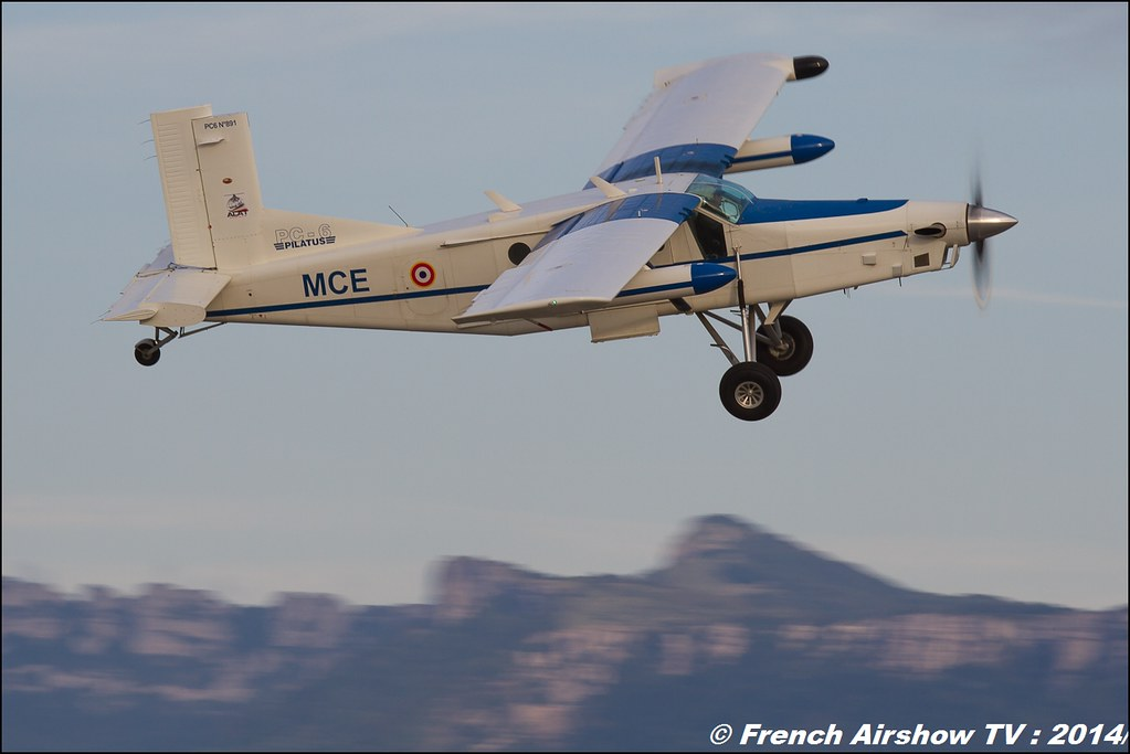 Pilatus PC-6 n 891 & Parachutiste 60 ans ,ALAT, JPO Gamstat Valence Chabeuil 2014