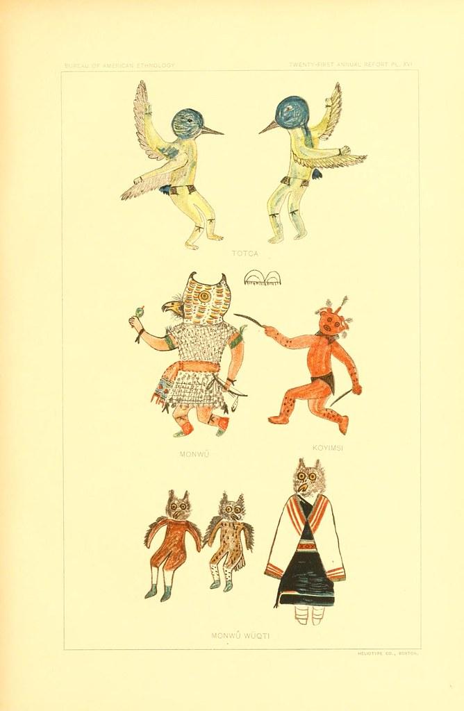 hopi drawings of kachinas  1903   u2013 the public domain review
