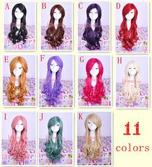 11 Colors Wavy Cosplay Wig 65cm
