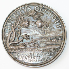 1709 medal Prince Eugene of Savoy and the Duke of Marlborough reverse