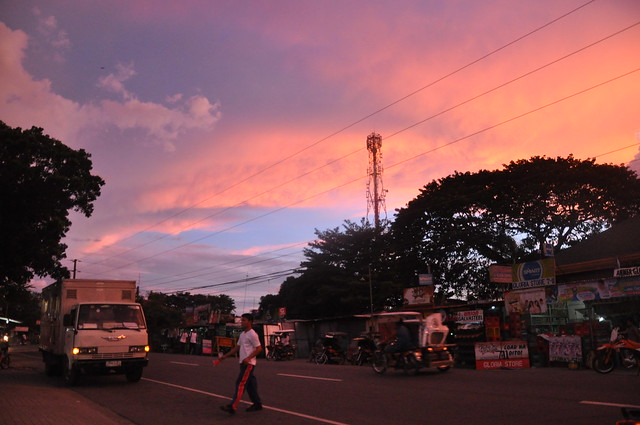 Sunset over Narvacan Town