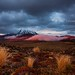 dramatic sky over Mt Ngauruhoe by hueymilunz
