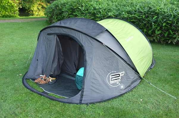 A pop up tent