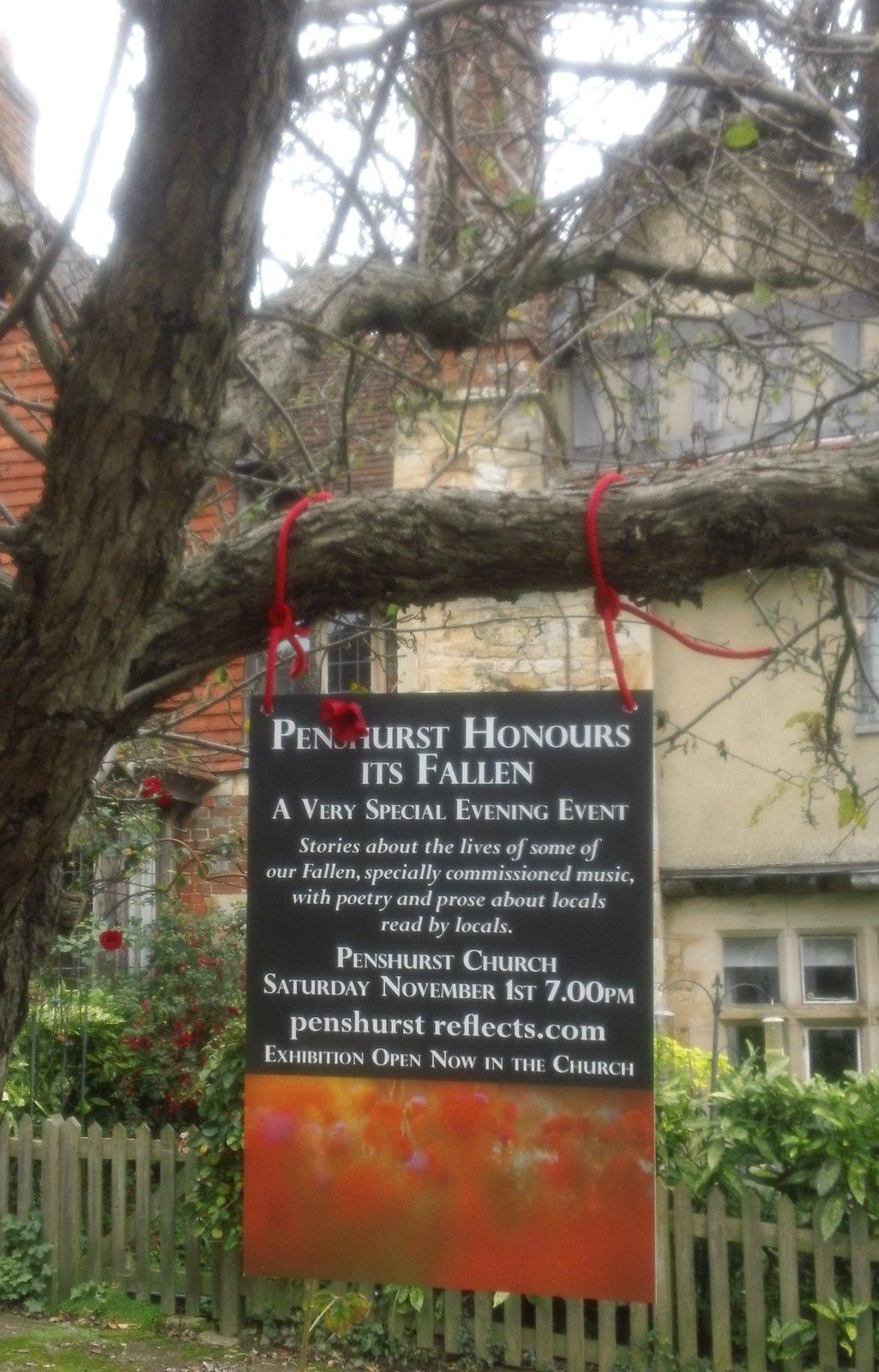 In honour of the Fallen Penshurst, Kent