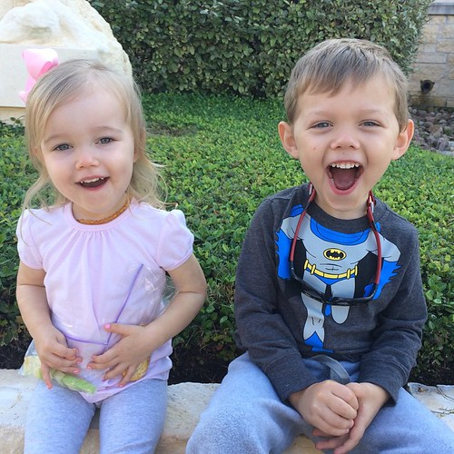 Little cuties. �� If Audrey looks tired, it's because she is! Operation paci removal isn't her favorite. ��