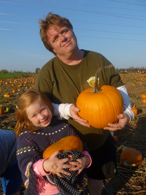 Father Daughter Pumpkins