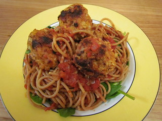 Tempeh Meatballs and Spaghetti