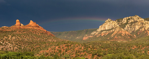 arizona panorama sun storm mountains nature rain weather canon landscape rainbow pano sedona az panoramic 5d canon5d redrock miii