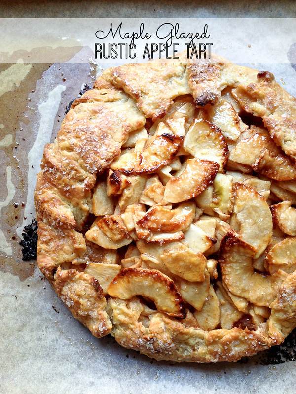 Maple Glazed Rustic Apple Tart