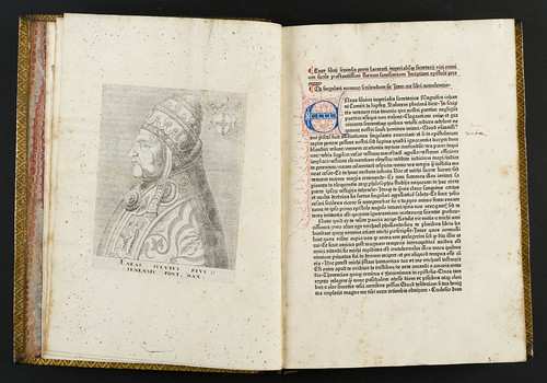 Inserted engraving of Pius II in Pius II, Pont. Max.: Epistolae familiares et in cardinalatu editae
