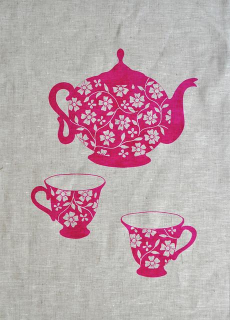 teapot tea towel