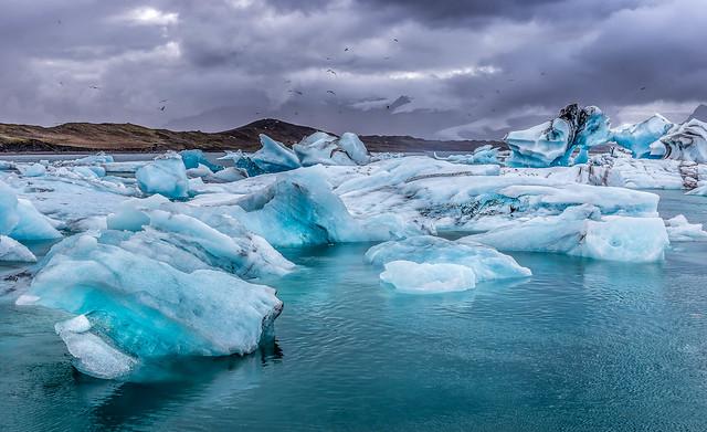 glacier, lagoon, iceland