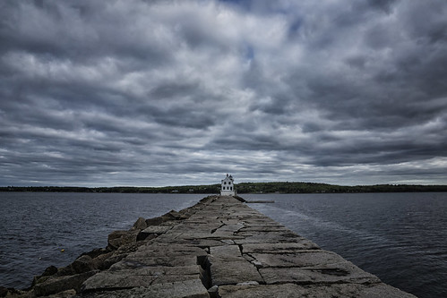 ocean summer cloud lighthouse me june spring cloudy maine atlantic breakwater rockland penobscotbay rocklandharbor