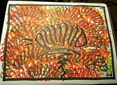 The Nuwud caterpillar.   #nuwud #nuwudart #LosAngeles #california #westhills #artdistrict #art #fineart #graffart #graffartist #markers #Prismacolor #