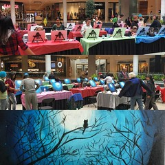 The last Paint Your Passion Tuesday for October! Something Halloweeny :blush: Thank you @missartscouncil and #erinmillstowncenter for the opportunity to share art with so many people!   #art #artist #artisgoodforyou #letspaintthis #paintmorning #mississau