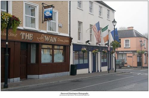 ireland offaly birr fog flags tavern pub