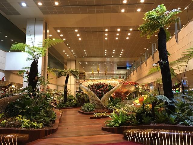 チャンギ空港のオブジェ。豪華…