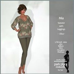 [PP Casuals] Mia Fall Sweater and Leggings - Olive
