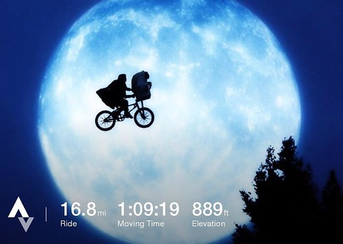 It would have been a boring ride home except for the Super Moon. Otherwise just another easy day. #bikelife #bikecommute