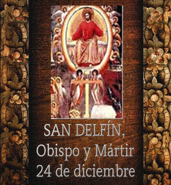 SAN DELFÍN,Obispo y Mártir.(†Dedicado  al P.Cotallo)