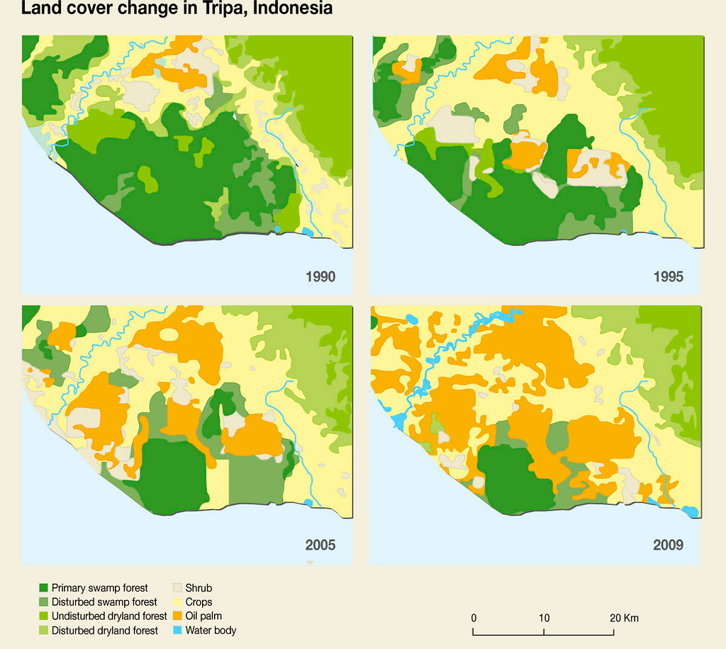 Land Cover Change In Tripa Indonesia Grid Arendal