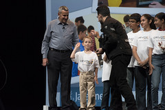 Peter Utzschneider, Stephen Chin and Kids, JavaOne Strategy Keynote, JavaOne 2014 San Francisco