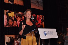 Julia Wiklander, Founder Girls' Globe introducing #MDG456Live at the Every Woman Every Child event, Sept 21, 2014