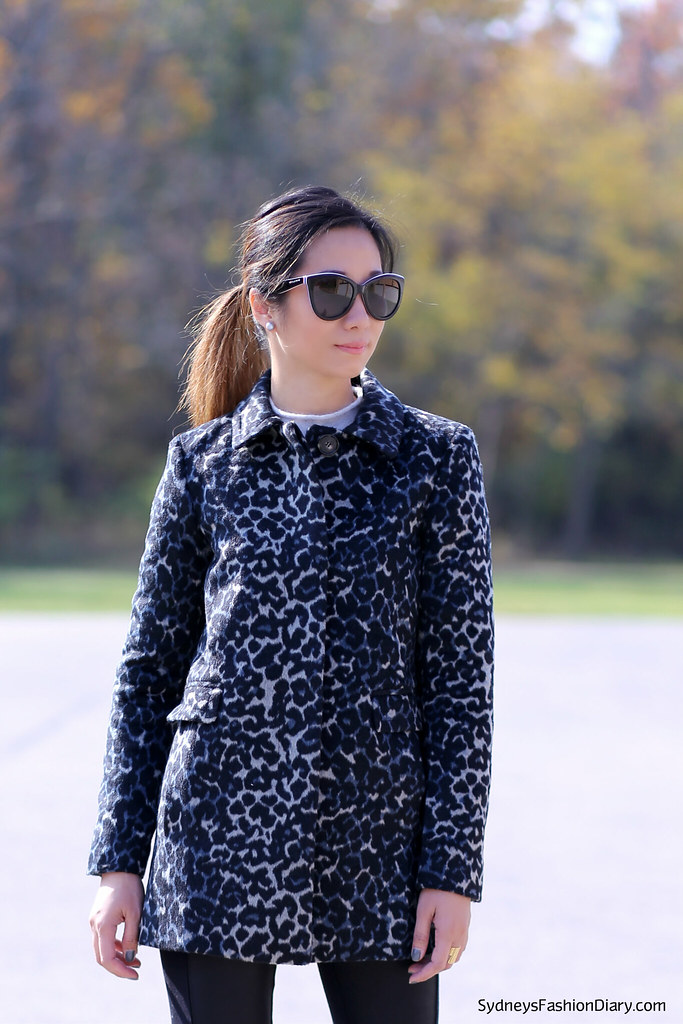 LOFT snow leopard coat