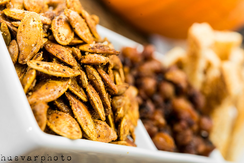 spicy roasted pepitas and butternut squash seeds recipe