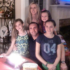 Beautiful sister and her gorgeous fam on dunc's bday