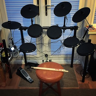 New addition to the den! #Electronic #drums #alesis #dm7x