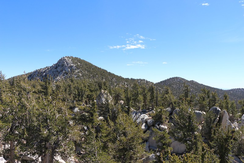 San Jacinto Peak and Jean Peak from the Folly Peak ridge as we return from Folly
