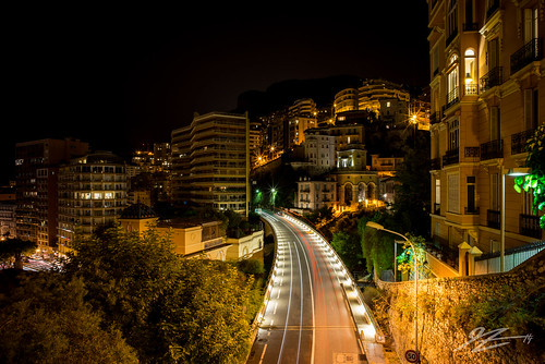 road city light france car night french landscape lights long exposure riviera cityscape sony voigtlander trails monaco carlo monte 21mm ultron a7r