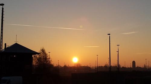 sunrise germany deutschland railway bremen sonnenaufgang gröpelingen