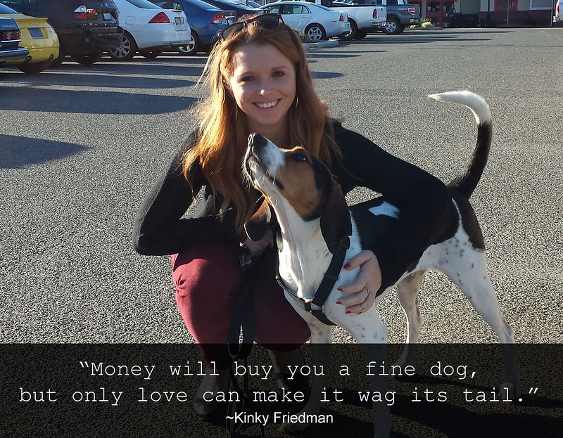 Money will buy you a fine dog, but only love can make it wag its tail.