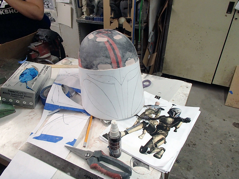 Night Owl Helmet Face Progress Begins