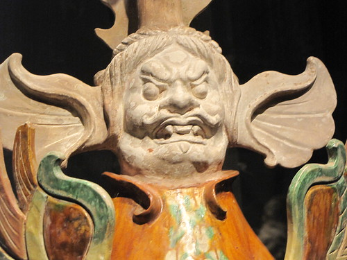 Asian Demon Sculpture