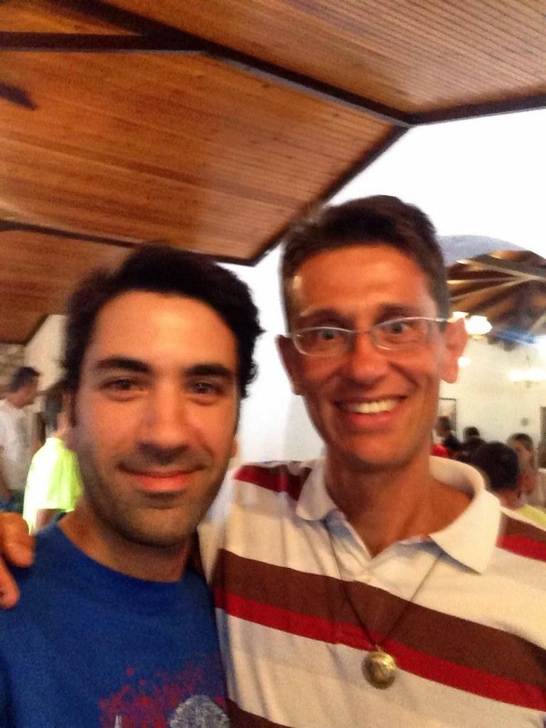 Aytug with İvan Cudin, the race winner.