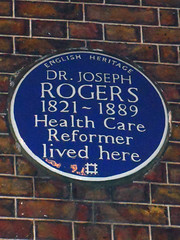 Photo of Joseph Rogers blue plaque