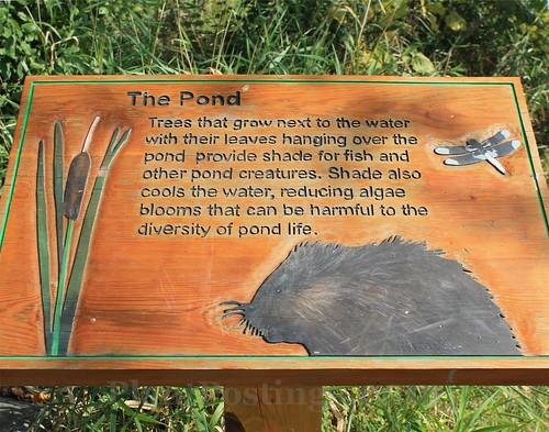 pond sign