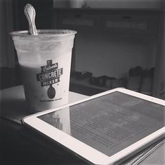 A book and a malt milkshake make a Sunday evening just right.  #needthesugartodealwithMonday       #learningtoloveMondays