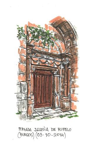 Rupelo (Burgos). Fachada de la iglesia