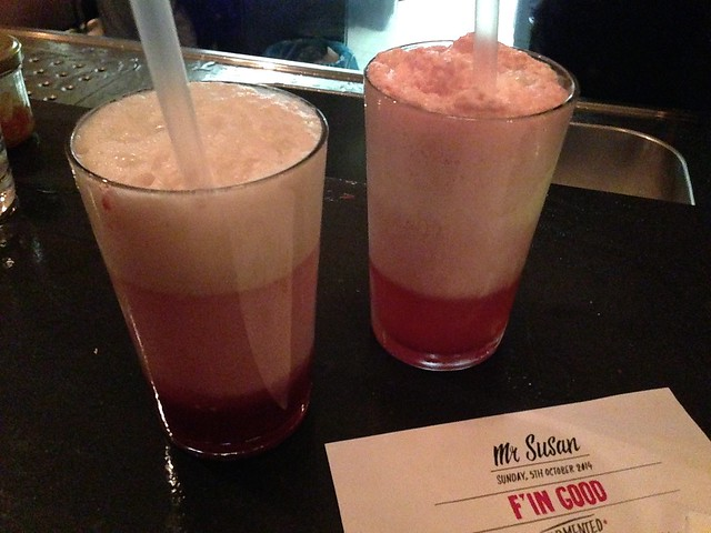 Mr Susan F'in Good Hidden Chef dinner for Stadt Land Food fest_ raspberry vinegar and olive oil ice cream float
