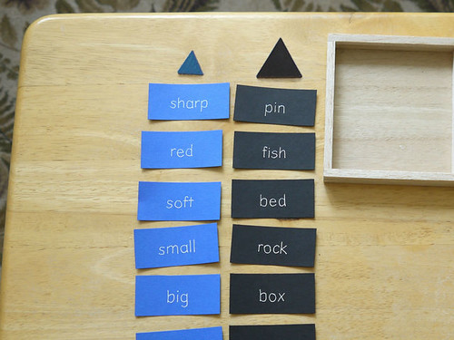 Logical Adjective Game (Photo from Montessori Album)