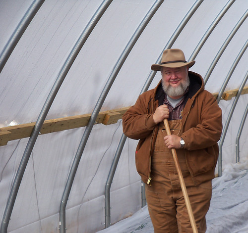 Larry E. King worked with NRCS to build a seasonal high tunnel on his farm in Whitley County.