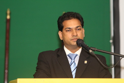 Agriculture Minister of Suriname, HE Soeresh Algoe, addresses Family Farming Seminar Monday 6 October, 2014