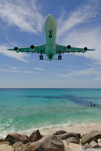 sunset france beach netherlands dutch saint st plane airplane martin aircraft air sint airline airbus caribbean heavy maho maarten sxm a340 airfrance airliners 498 tncm a340300 princessjuliana antillies fglzo afr468