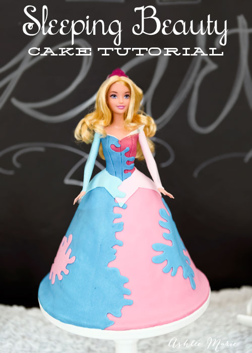 full tutorial for a disney princess sleeping beauty birthday cake